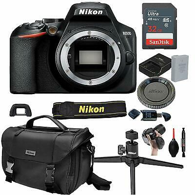 Nikon D3500 Digital SLR DSLR Camera Body Black + 13pc Bundle -