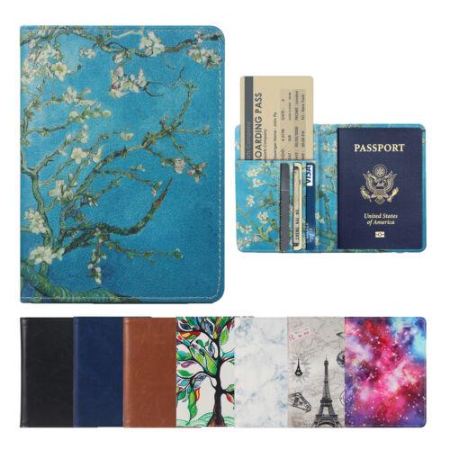 Passport Holder Travel Wallet RFID Blocking Case Cover - Holds Passport / Card