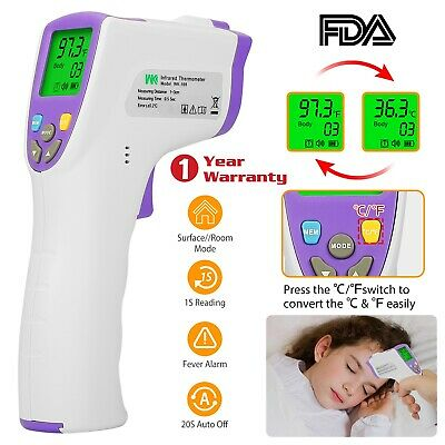 Medical Non-contact Body Forehead Infrared Digital Thermometer Baby Adult Fda
