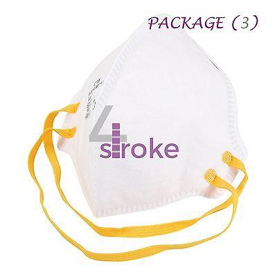 3 Face Mask Respirator FFP1 Sanding Paint Aerosol Dust Bodyshop Safety Fold Flat