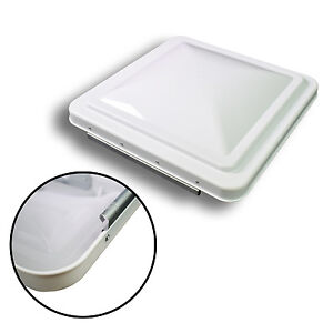 new white 14 x 14 replacement roof vent cover camper rv trailer ventline - Trailer Roof Vent