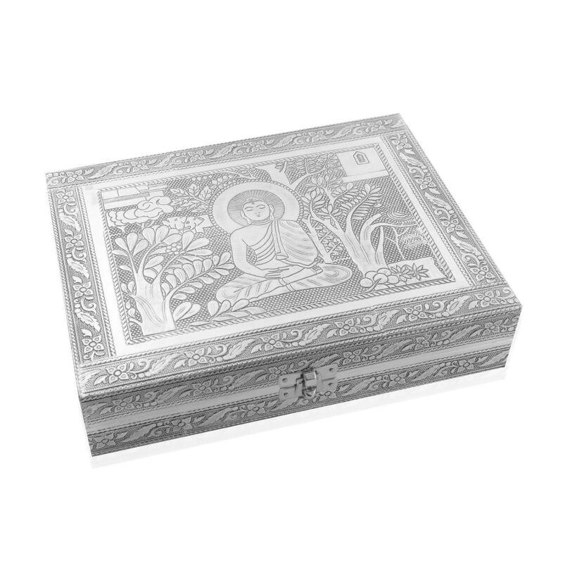 Handcrafted Aluminium Jewelry Organizer Box Storage Anti-Tarnish Protection
