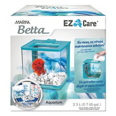 Marina Betta Aquarium Blue EZ Care Plus kit, 1.35 Gallon