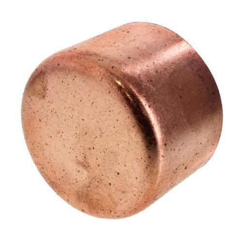 "1-1/4"" Copper Cap Sweat End (BAG OF 5) - COPPER PIPE FITTING"