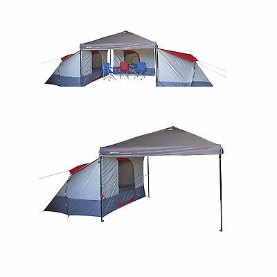 Family Camping Tent 4 Person Large Canopy Equipment Outdoor Cabin Hiking Gear