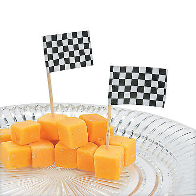 144 Party Supply Checkered FLAG Nascar Racing Food Cupcake Hors D'Oeuvers PICKS