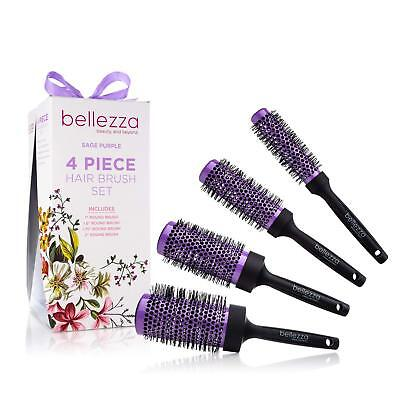 Bellezza Blush Pink Hair Brush Set Ceramic Round Brush Bundle, used for sale  Shipping to India