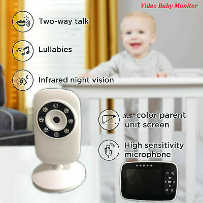 "Video Baby Safe Monitor Camera 2-Way Talk 3.5"" Wireless Night Vision LCD Display"