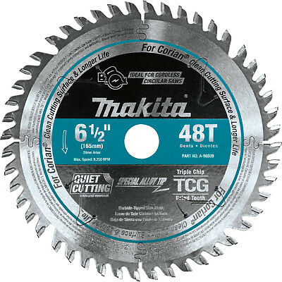 Makita A-98809 6-12 48t Carbide-tipped Cordless Plunge Track Saw Blade New