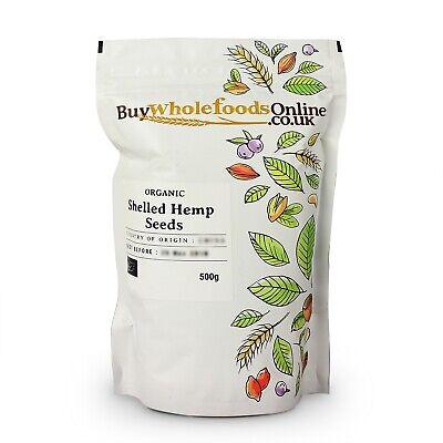 Organic Shelled Hemp Seeds 500g   Buy Whole Foods Online   Free UK Mainland P&P