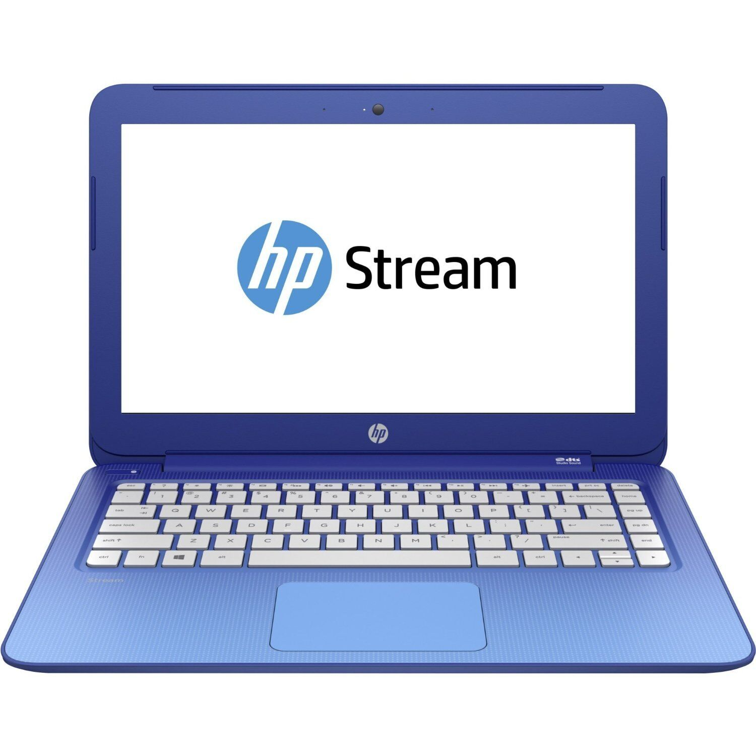 "New HP Stream 13-c077nr 13.3"" Laptop Intel 2GB 32GB eMMC Webcam Office 365 Blue"