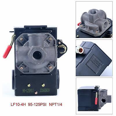 4 Port Air Compressor Pressure Switch Control Valve 95-125 Psi W Unloader Usa