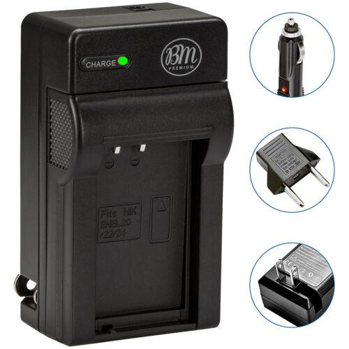 BM Premium EN-EL24 Battery Charger for Nikon 1 J5, DL18-50, DL24-85 Cameras