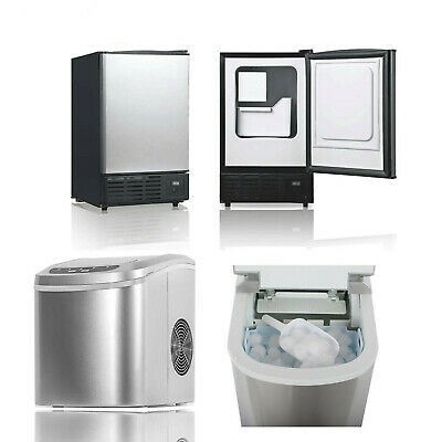 Commercial Ice Maker Cube Machine Freestanding Undercounter Home Bar Built-in