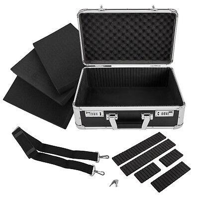 anndora Fotokoffer 40x19x26cm schwarz Kamerakoffer Alukoffer  Aluminium Werkzeug