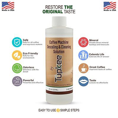 Tupkee Coffee Machine Descaling & Cleaning Solution, Premium Formula Descaler