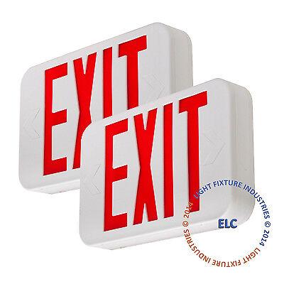 2pack Red Led Emergency Exit Light Sign - Modern Battery Backup Ul924 - Ledrbbjr
