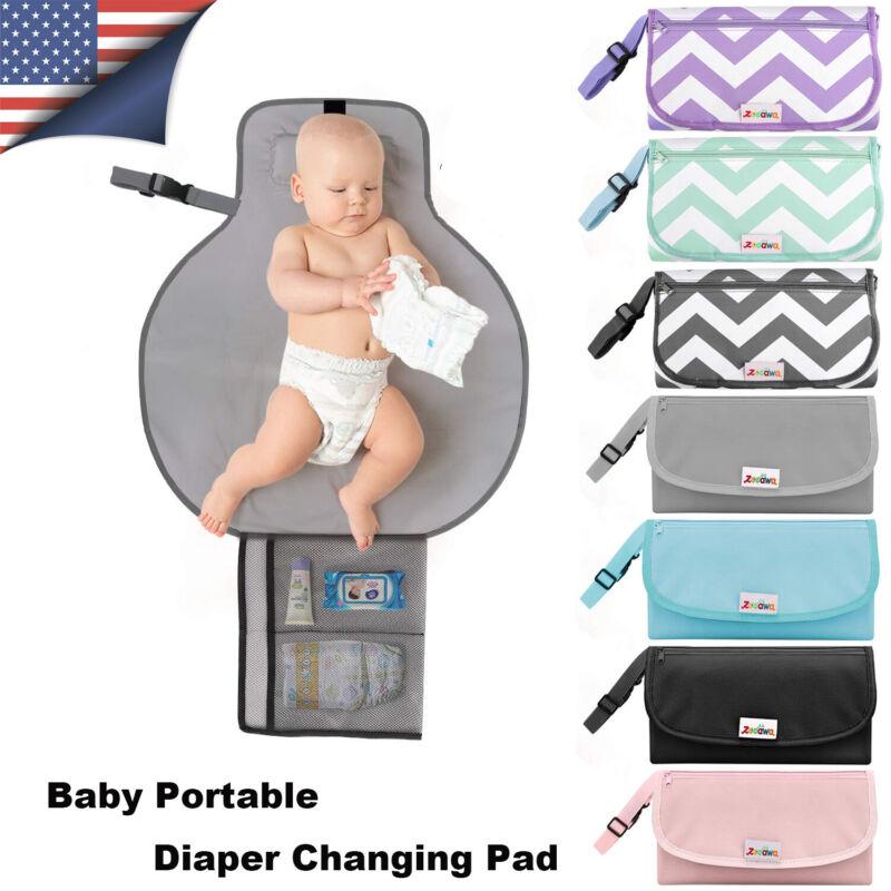 Zooawa Baby Cute Portable Waterproof Travel Diaper Changing Pad Fold Mat Station