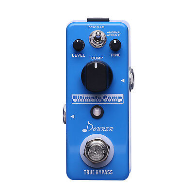Donner New Compressor Pedal Ultimate Comp Guitar Effect Pedal (Best Guitar Compressor Pedal)