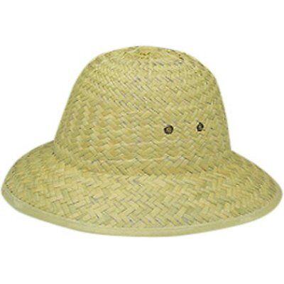 Afrikanischer Kakao (Natürlich Kakao Stroh Tropen- Helm Hut Afrikanische Safari Kostüm Zubehör Beige)