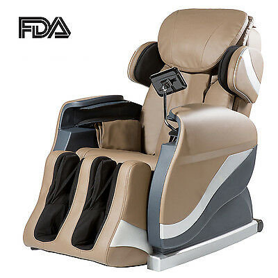 Merax Full Body Shiatsu Massage Leather Chair Recliner with Air Massage System