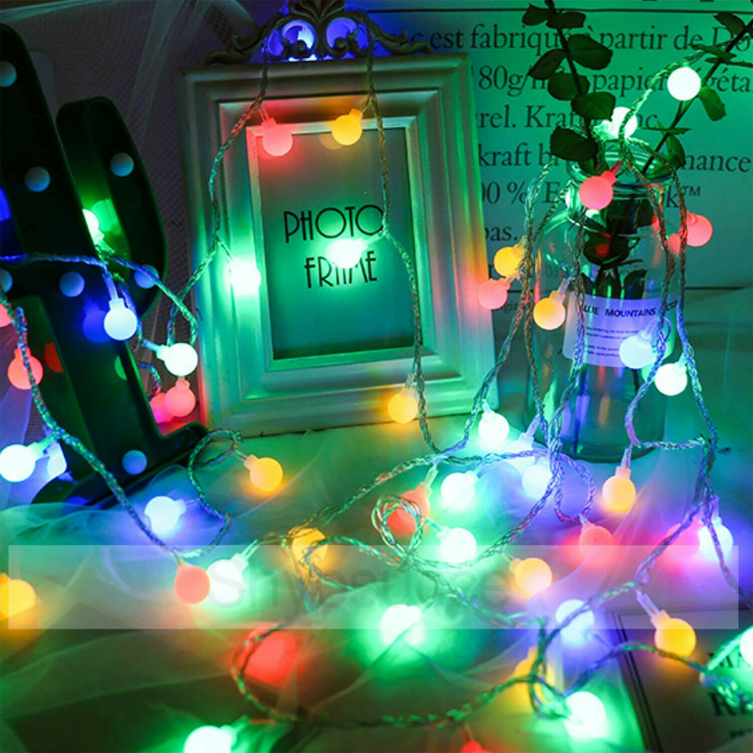 5//10M 100 LED Fairy String Lights Berry Ball Xmas Party Bulb in//Outdoor Lamp UK