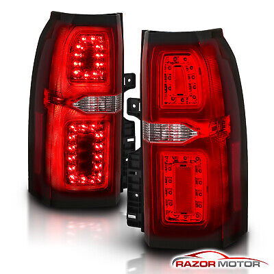 [Red Clear ] 2015-2018 Chevrolet Suburban Tahoe SUV LED Brake Tail Lights 2016