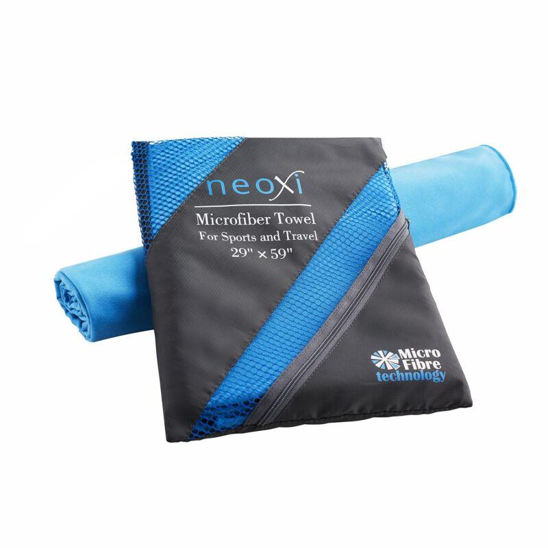 "Microfiber Towel XLarge 59""x29"" for travel camping  swimming yoga"