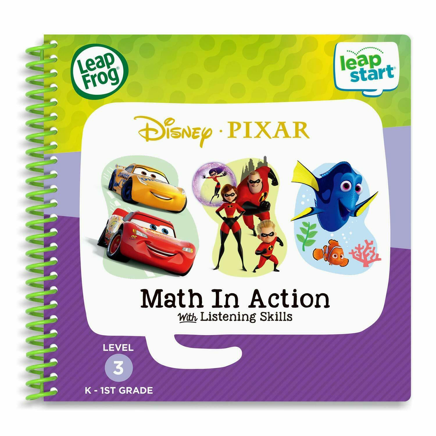3D Disney Pixar Pals Math In Action Book Kids Toddler Educational Learning Books - $13.17