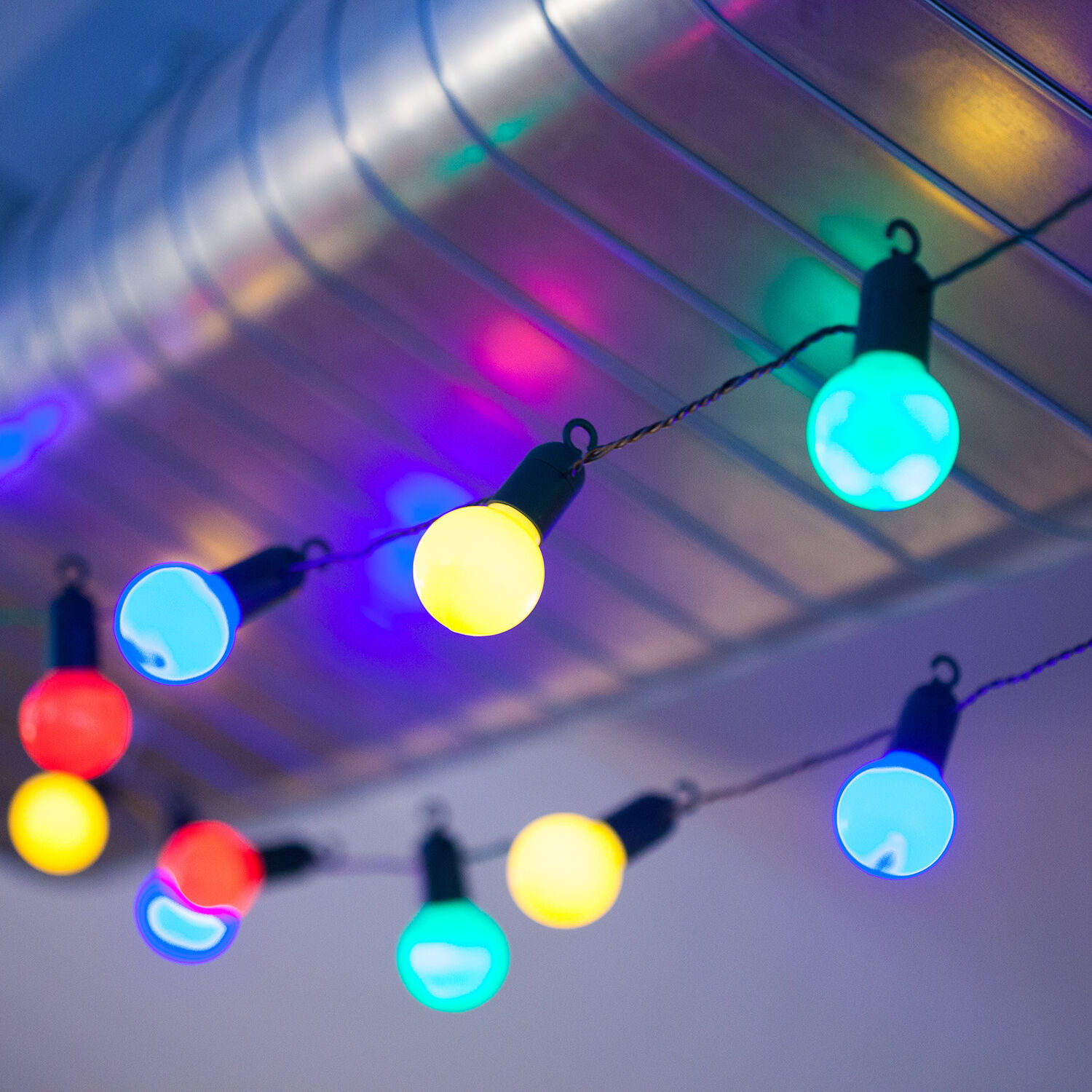 Led Outdoor Party String Lights: 7M INDOOR/OUTDOOR CHRISTMAS PARTY FAIRY STRING GLOBE
