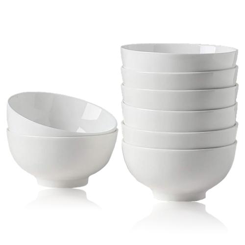 8PCS 10oz Small Porcelain Bowls Set for Salad Ice Cream Dess