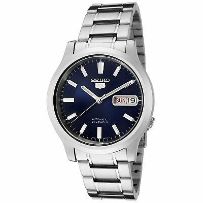 Seiko 5 SNK793 Automatic 21 Jewels Dark Blue Stainless Steel Mens Watch SNK793K1