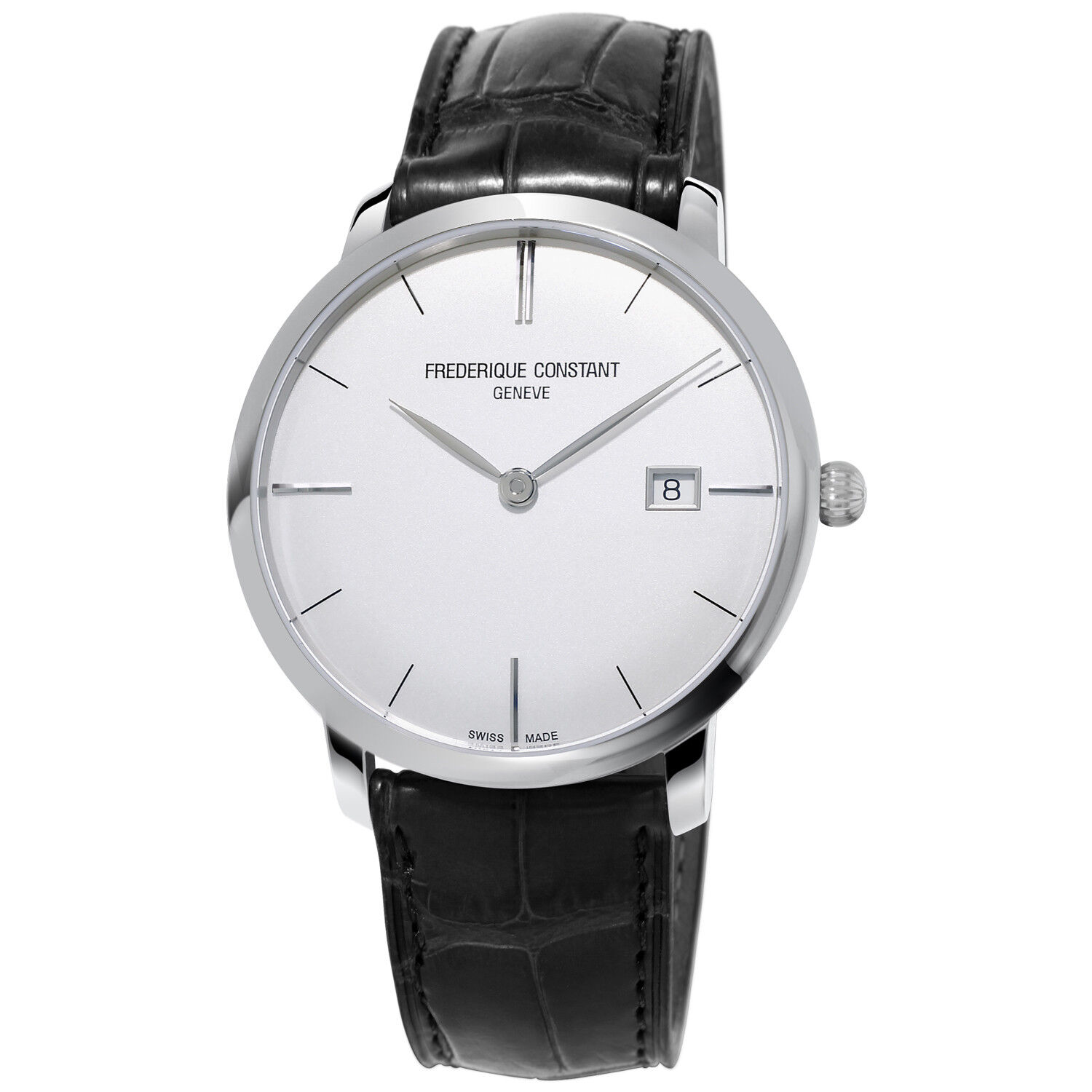 Frederique Constant Slimline Men's FC-306S4S6 Automatic Silver Date 40mm Watch - watch picture 1