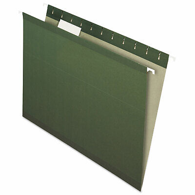 Pendaflex Earthwise Recycled Hanging File Folders 15 Tab Letter Green 25box