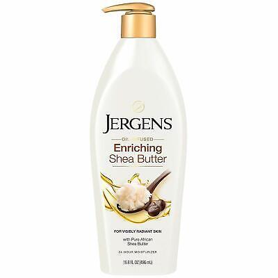 Jergens Shea Butter Oil Infused Enriching 24 hour moisturiser 496ml