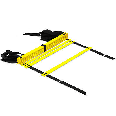 Yes4All Speed Agility Ladder with Carry Bag - Adjustable 8 Rung (Yellow)²2