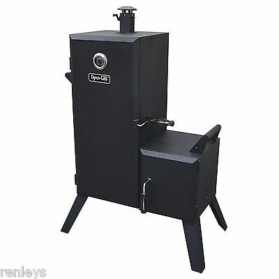 Dyna-Glo Vertical Offset Charcoal Smoker Wood Chips BBQ Grill Cooker Heater NEW