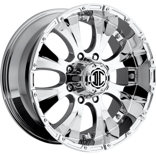 17x8 Chrome Xtreme NX-2 5x5 +20 Wheels Nitto Trail Grappler 285/75/17 Tires
