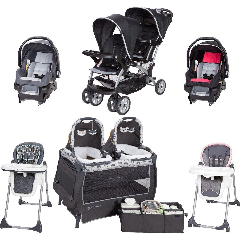 Baby Boy Girl Twins Combo Set Nursery Center Double Stroller