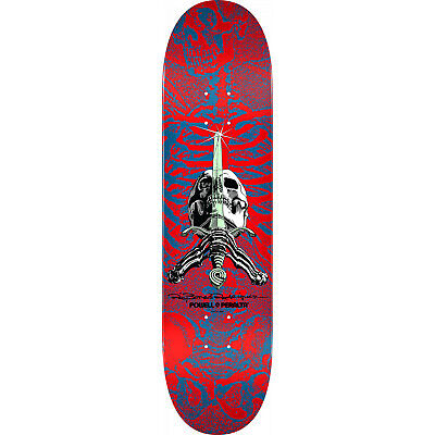 "Powell Peralta Skateboard Deck Skull and Sword Red 9.0"" x 32.095"""