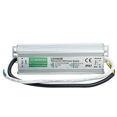 Ac Dc 12v 5a 60w Lighting Transformer Power Supply Led Driver Waterproof Adapter