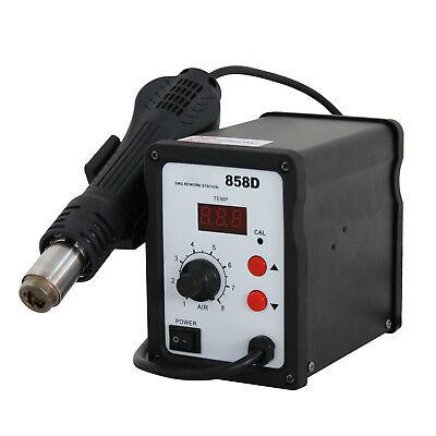 858d 700w Electric Hot Air Heat Gun Soldering Station Desoldering Tool Led