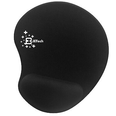 JETech Mouse Pad Soft Mat with Gel Wrist Black