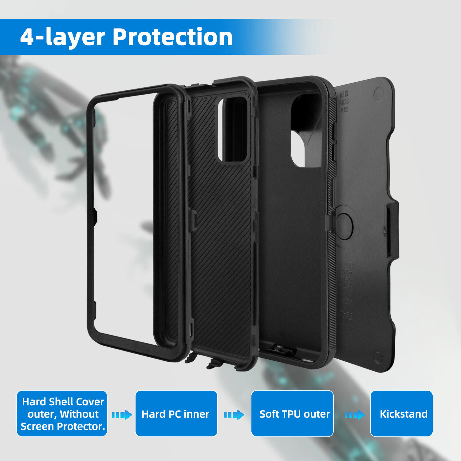 For Samsung Galaxy A32 5G Case Holster Belt Clip Stand Shockproof Hybrid Cover Cases, Covers & Skins