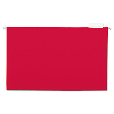 Universal Hanging File Folders 15 Tab 11 Point Stock Legal Red 25box 14218