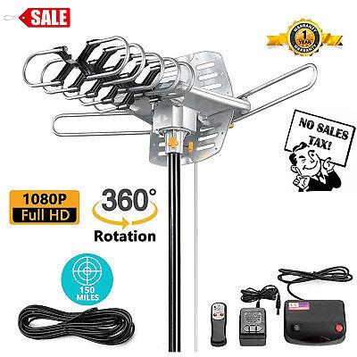 Best Long Range Outdoor Hdtv Antenna Digital TV 150 M Amplified Remote (Best Indoor Amplified Hdtv Antenna)