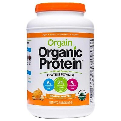 Orgain USDA Organic Plant Protein Powder, 2.74-pounds Peanut Butter