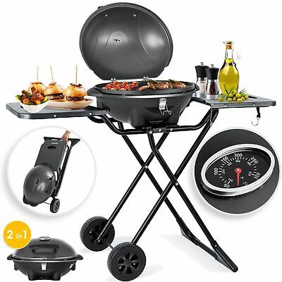 KESSER® Elektrogrill 2in1 Tischgrill Standgrill 2400 Watt Gartengrill Deckel BBQ