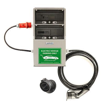 WB24 Wallbox 3Ph 400V 11kW 16A Typ 2 5m Ladestation mit geeichtem Stromzähler un