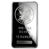 10 oz Sunshine Silver Bar - MintMark SI™ Security Feature - SKU #83474